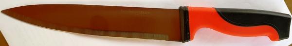 Нож MASTER красно черная резиновая ручка 8-ка  325 мм.