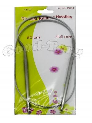 Спицы для вязания на тросике, вязальные спицы 4.5 мм