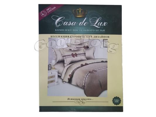 Постельное белье Casa de Lux (зеленая упаковка) N4, семейный (Пододеяльник 2 шт. 215х145 см. Простыня 1 шт. 220х200 см. Наволочка 2 шт. 70х70 см.)