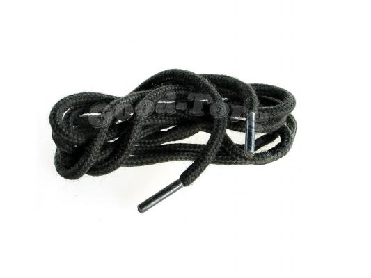 Шнурки для обуви цвет черный круглые 100 см. 1 уп. = 72 пар.