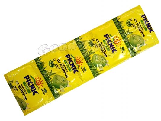 Пластины от комаров PICNIC FAMILY  желтые 10 шт.