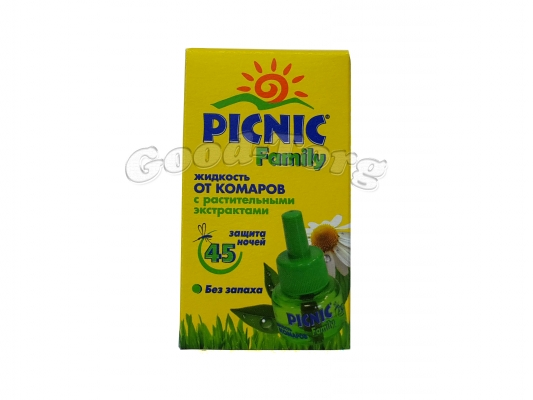 Жидкость от комаров Picnic Family 45 ночей