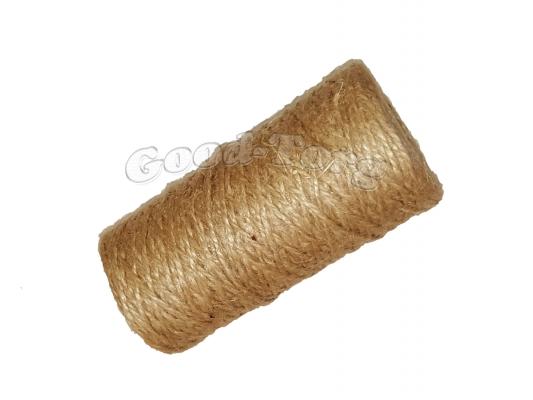 Тепличная нить лен 100 грамм - коричневый цвет.