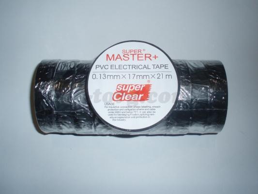Изолента ПВХ Master+ черный 21м. (в пачке 10шт. продажа пачкой)