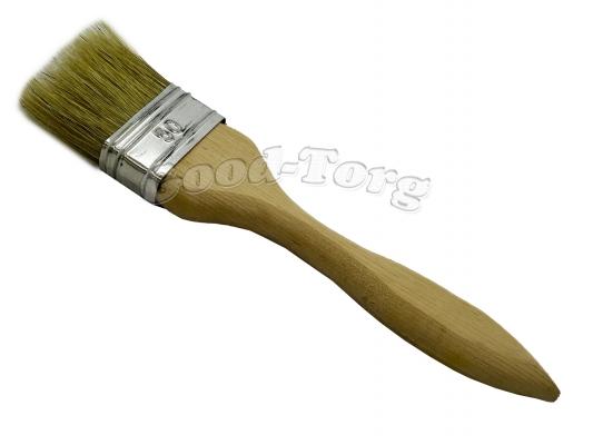 Кисть плоская, утолщенная, №50, 19,5*5*1.5 см., деревянная ручка. 1 пач. = 5 шт.