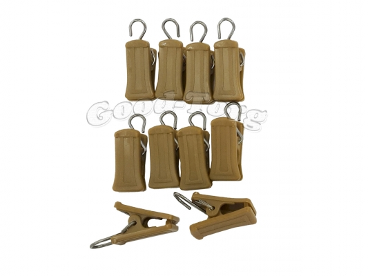 Прищепки для шторы, 3,5*1 см., коричневый, металлический крючок 100 шт.