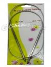 Спицы для вязания на тросике, вязальные спицы 4.0 мм