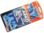 Одноразовый станок ARKO MEN, 3 лезвия + плавающая головка, оригинал, 1 уп = 4 шт. (Турция)