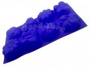 Силиконовая форма для выпечки Жук-Ромашка 8 Гл. 3.5 см. Дл 30 см. Шир. 17,5 см. диам. ячеек 6 см.