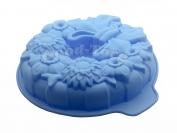 Силиконовая форма для выпечки Цветы бант  диам. 26.5 см. гл. 5.5 см,