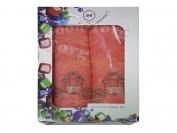 Набор полотенце Турция Cotton 2 шт. цвет оранжевый лицо 35*70 см. + баня 70*140 см.