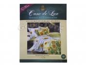 Постельное белье Casa de Lux (зеленая упаковка) N1, евро (Пододеяльник 1 шт. 220х200 см. Простыня 1 шт. 220х200 см. Наволочка 2 шт. 70х70 см.)