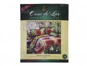Постельное белье Casa de Lux (зеленая упаковка) N19, семейный (Пододеяльник 2 шт. 215х145 см. Простыня 1 шт. 220х200 см. Наволочка 2 шт. 70х70 см.)