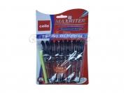 Ручка Maxriter 4км,синяя,чёрная упаковка (10+1)