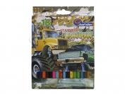 Карандаши J.Otten 18 цветов рисунки для мальчиков