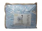 Одеяло лебяжья пух цветной   145*215 см.