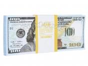 Сувенирные деньги 100$ нового образца 1 уп. = 80 шт.