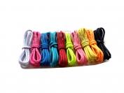 Шнурки для обуви цвет коричневый круглые 100 см. 1 уп. = 72 пар.