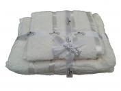 Набор полотенца 2 шт. лицо + 2 шт. баня (Турция) цвет - бежевая
