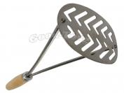 Толкушка для картофеля, овальная, деревянная ручка, 260 мм.