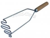 Толкушка для картофеля, спираль, деревянная ручка, 280 мм.
