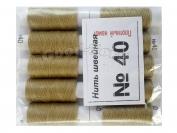 Нить швейная, № 40, 10 шт/уп, бежево-золотой арт. 14