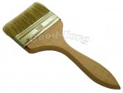 Кисть плоская, утолщенная, №100, 20*10*1.5 см., деревянная ручка. 1 пач. = 5 шт.