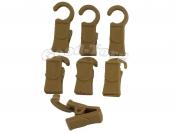 Зажим (ГАК) для шторы, 3,5*1 см., пластиковый крючок, коричневый 100 шт.